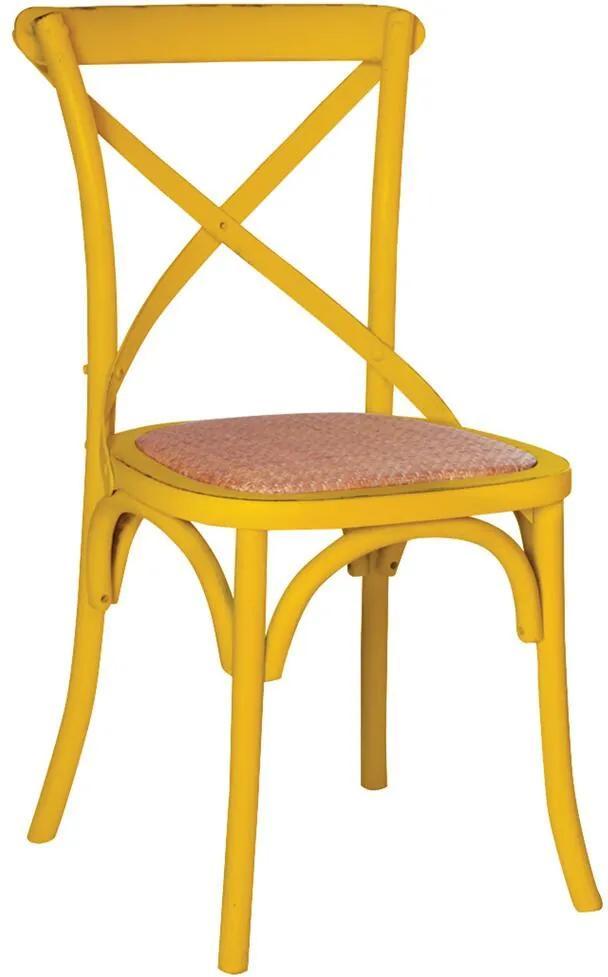 Cadeira Katrina Rústica Amarela