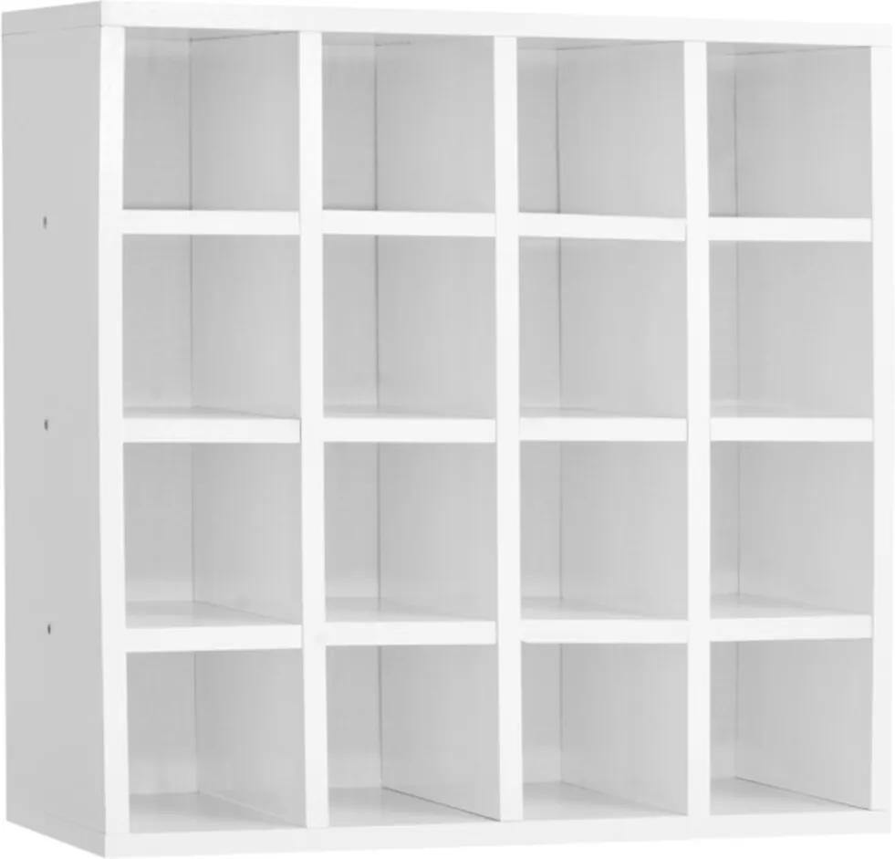 Nicho Porta Toalhas AJL Móveis 16 Lugares 52x52cm Branco