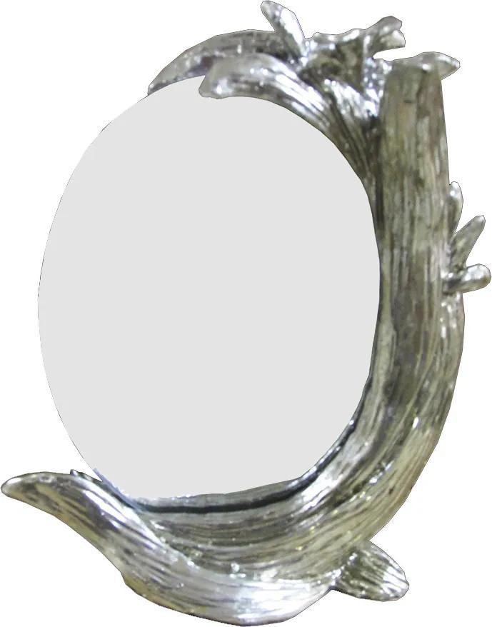 Espelho Clássico Oval Prateado 24x19cm