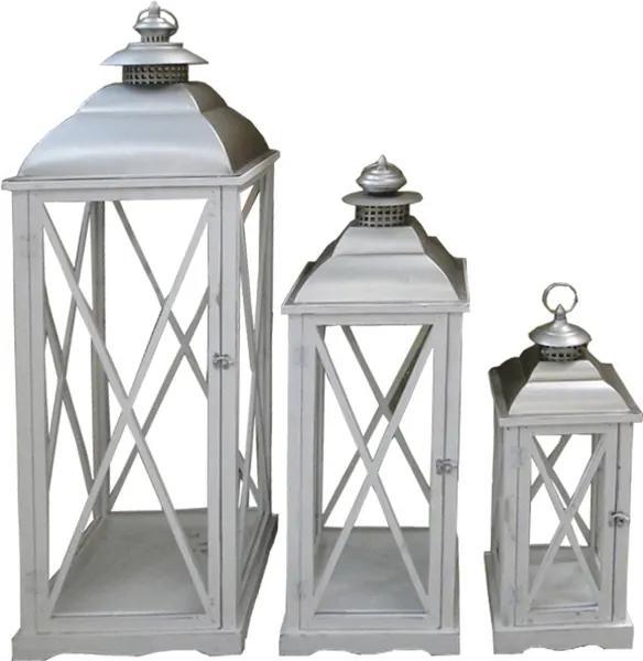 Conjunto com 3 Lanternas Grandes Biblos
