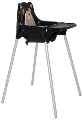 Cadeira para Refeição Infantil Tramontina Teddy em Polipropileno Preto