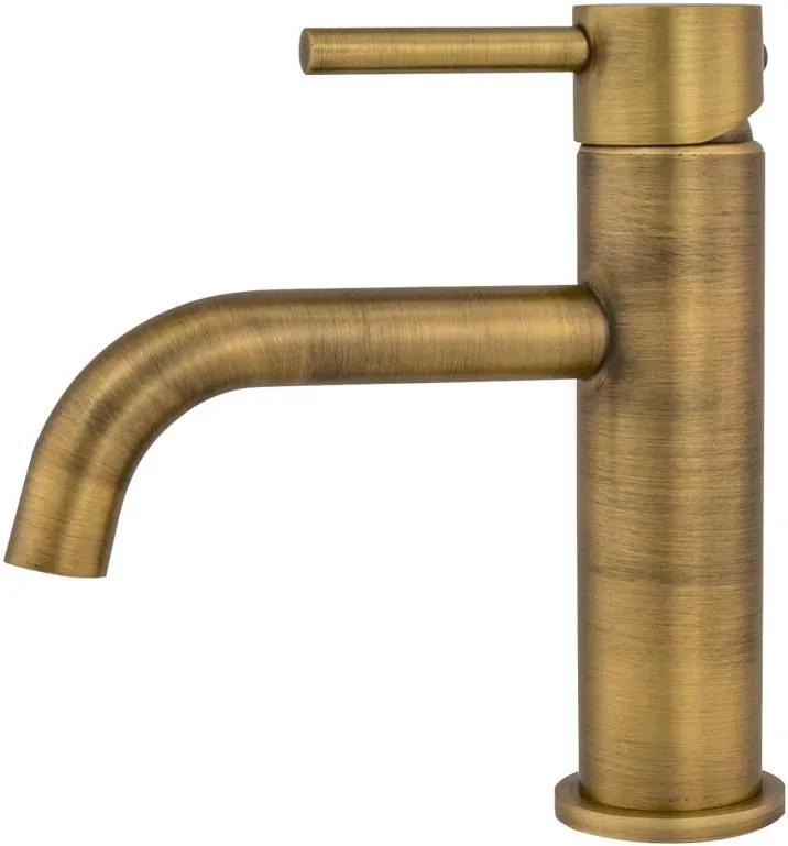 Torneira Monocomando Retrô Baixa de Banheiro (Ganges Dourada)