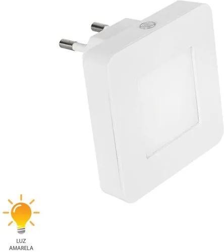 Luz Noturna Quadrada Lisa 5W Bivolt Branco Quente 3000K - 52053004 - Blumenau - Blumenau