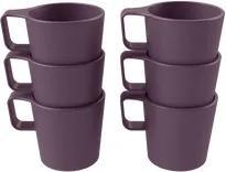 Conjunto 6 canecas empilháveis Casual - Roxo Púrpura Coza