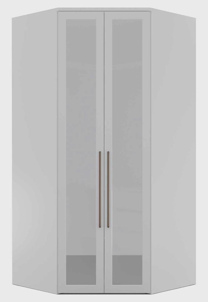 Guarda Roupa Elite Canto Closet C/ Espelho Refleta Branco Robel