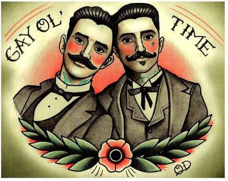 Placa Decorativa Para Barbearias Quyen Dihn gay Ol' Time