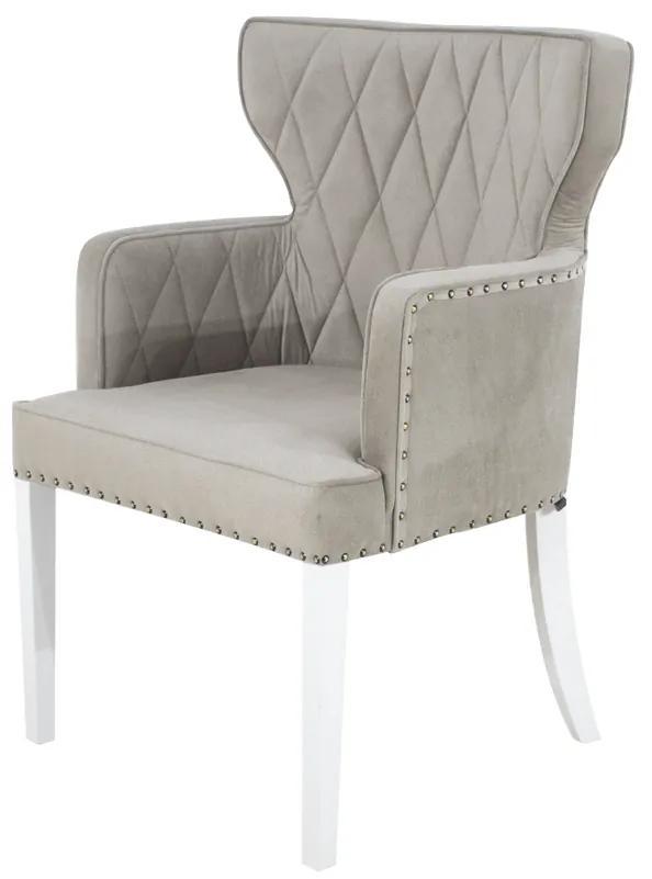 Cadeira de Jantar Estofada Matelassê com Tachas  - Wood Prime PP 33300