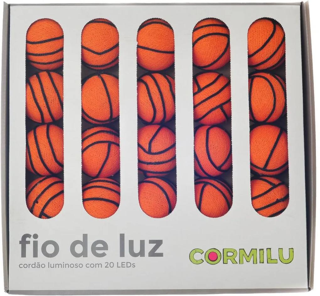 Luminária Decorativa Basquete - 110V Cormilu Laranja