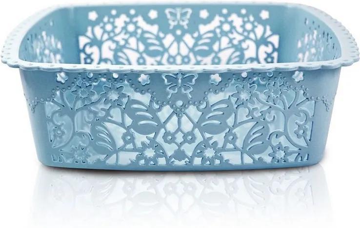 Cesto Organizador Lifestyle Quadrado Médio Azul - Jacki Design