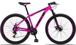 Bicicleta Aro 29 Quadro 21 Alumínio 21v com Suspensão e Freio Disco Or
