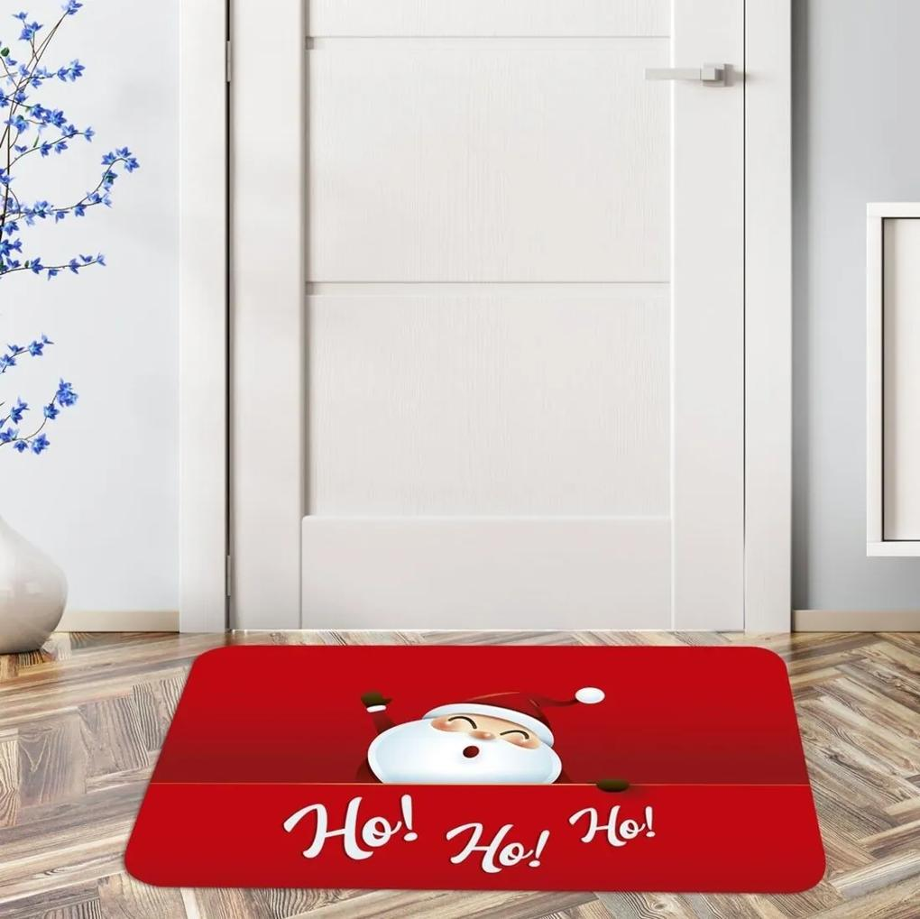 Tapete de Natal para Porta Ho Ho Ho Único