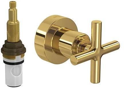 Acabamento de Registro de Pressão MVR Duna Clássica Gold 3/4