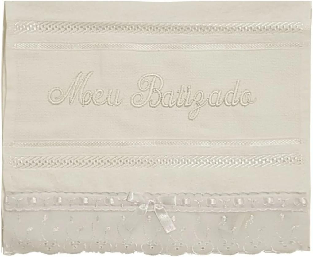 Toalha de Batizado Berço de Ouro Branca