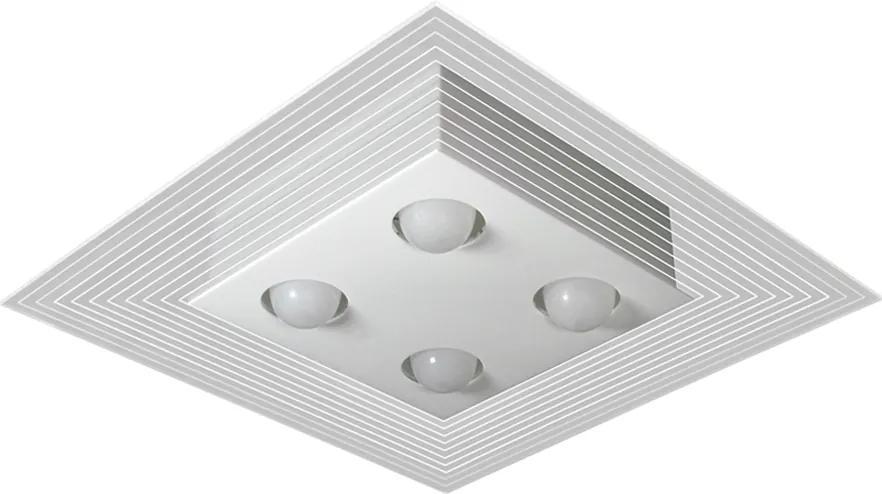 Plafon Sobrepor Alumínio Branco