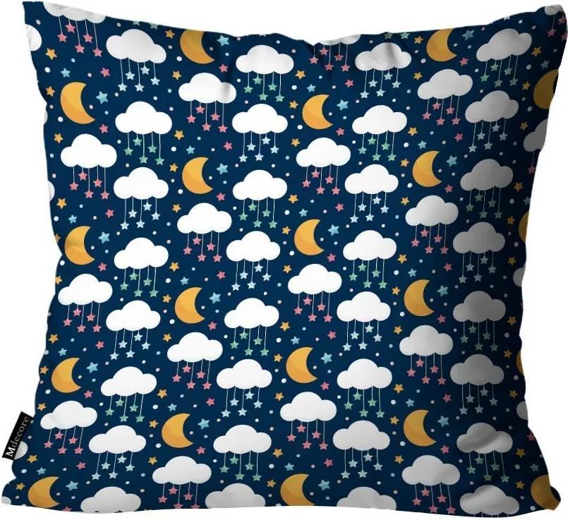 Capa para Almofada Infantil Nuvem Azul Marinho55x55cm