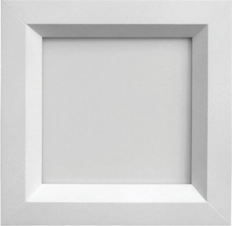 Plafon Led Embutir Acrilico Branco 9w Luz Amarela Sevilha