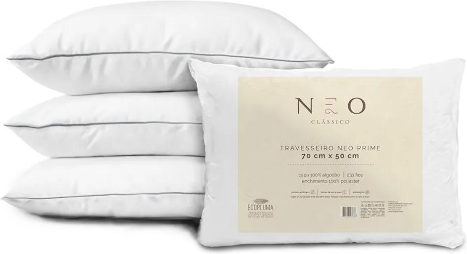 Travesseiro Neo Prime 233 Fios Suporte Médio Camesa 50x70cm