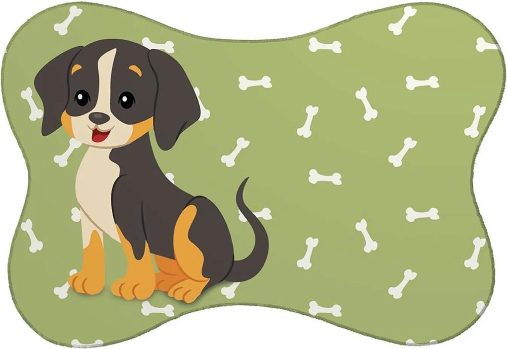 Tapete PET Mdecore Cachorro Verde 46x33cm