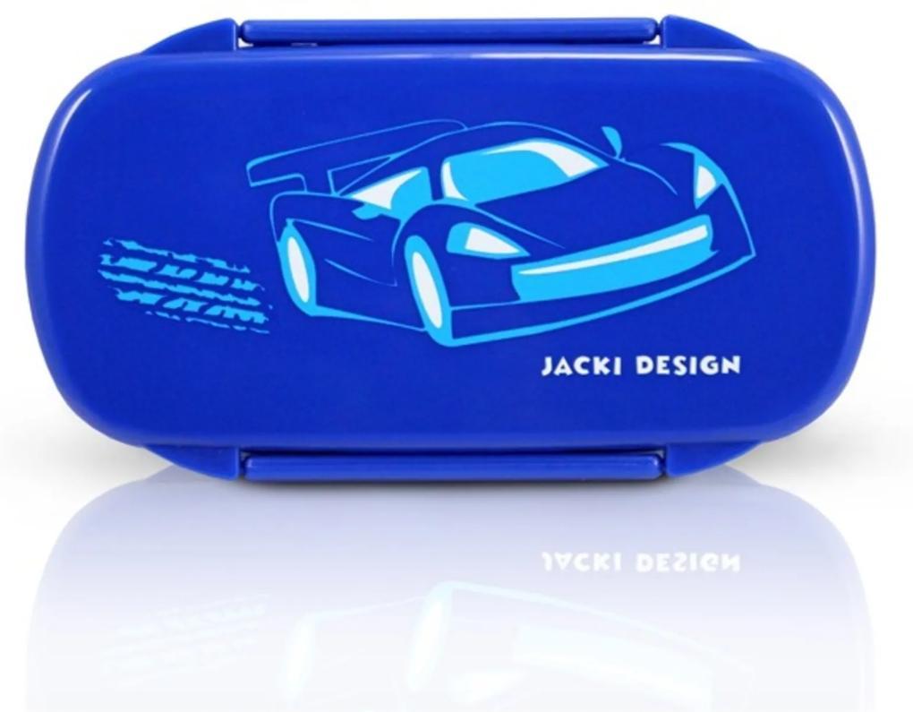 Pote para Lanche Infantil Carro Jacki Design Sapeka Azul Escuro