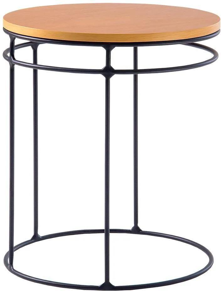 Mesa de Aproximação Five 50cm Aço Preto/Marfim - Gran Belo