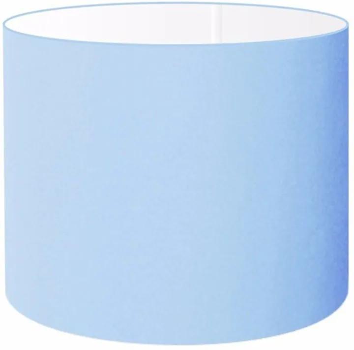 Cúpula Abajur e Luminaria em Tecido Cilíndrica Vivare Cp-8019 Ø40x30cm - Bocal Europeu - Azul Bebê