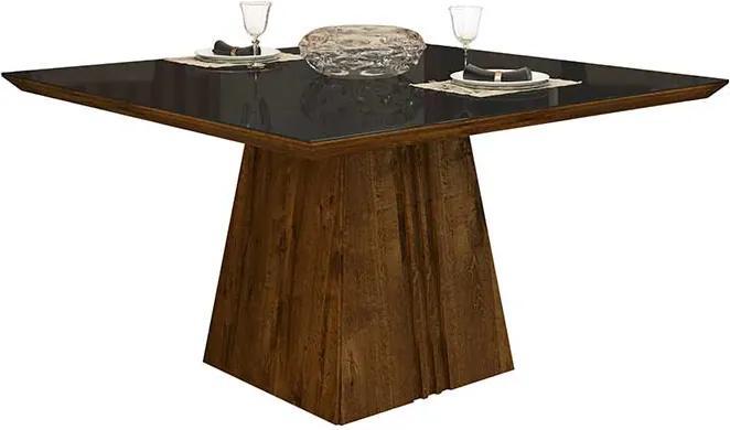 Mesa de Jantar Paris para 8 Cadeiras 140cm Rústico Malbec Preto