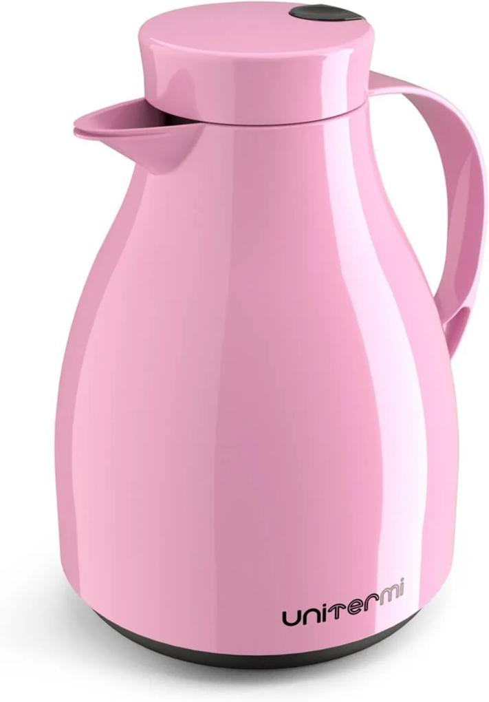 Garrafa Térmica com Gatilho Unitermi Paris 1 Litro Rosa