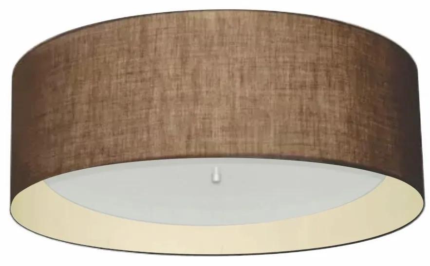 Plafon Cilíndrico Md-3008 Cúpula em Duplo Tecido 60x25cm Café / Bege - Bivolt