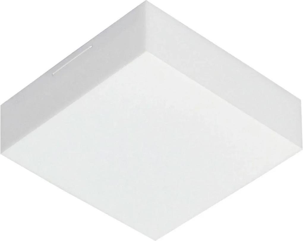 Arandela Plafon Sobrepor Branco Valencia Led 9w 18x18cm