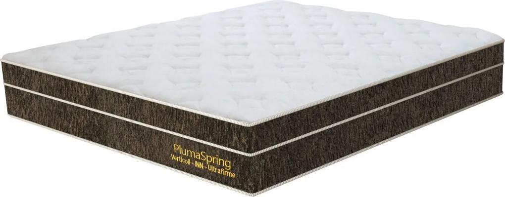 Colchão Casal Plumaspring   138 X 188 X 24 Cm - Preto e Cinza Plumatex  Preto/Cinza