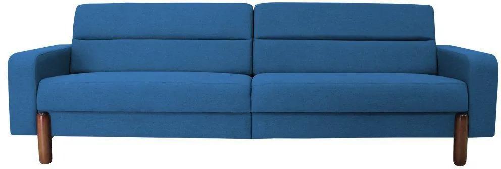 Sofá 3 Lugares Medlyn 230cm Veludo Azul - Gran Belo