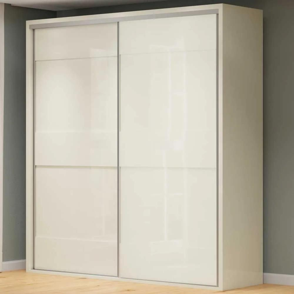 Guarda-Roupa Casal 2 Portas 2 Gavetas 100% Mdf Tw202 Off White - Dalla Costa