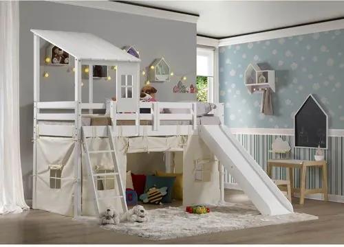 Cama Infantil Prime com Escorregador, Tenda e Telhado II - Casatema