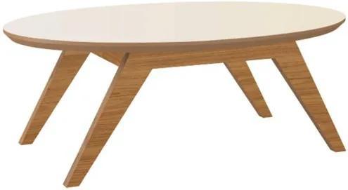 Mesa de Centro Eliptica Siena cor Freijo com Off White - 42239 Sun House