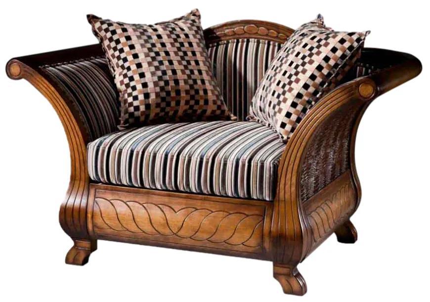 Sofá Amistad 1 Lugar Madeira Maciça Design Clássico Avi Móveis