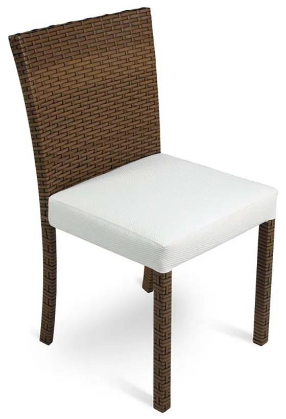 Cadeira Carmel Área Externa Fibra Sintética Estrutura Alumínio Eco Friendly Design Scaburi