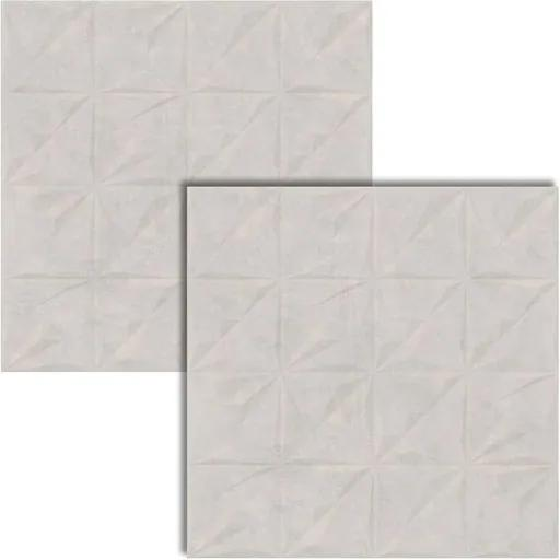 Porcelanato Metropole Cement Deco Acetinado Retificado 72x72cm - AR72050 - Viarosa - Viarosa
