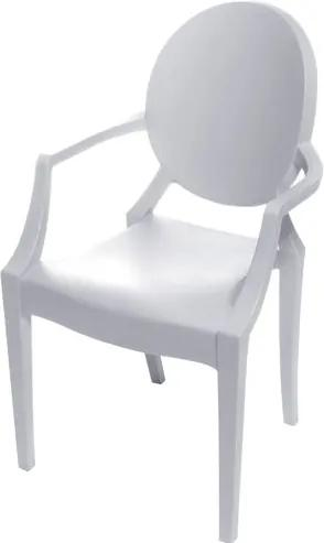 Cadeira Louis Ghost INFANTIL com Braco cor Branca - 53503 Sun House