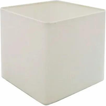 Cúpula em Tecido Quadrada Abajur Luminária Cp-2006 15/13x13cm Branco