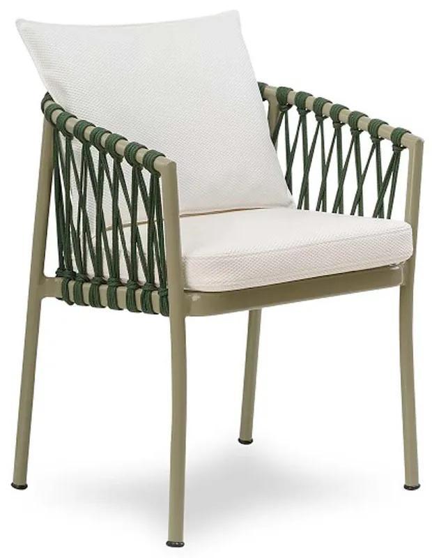 Cadeira Califórnia Área Externa Trama Corda Náutica Estrutura Alumínio Eco Friendly Design Scaburi