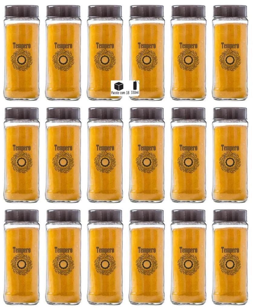 Pote Cilindrinho 330ml Temperos Pacote 18 Unidades - Fiore