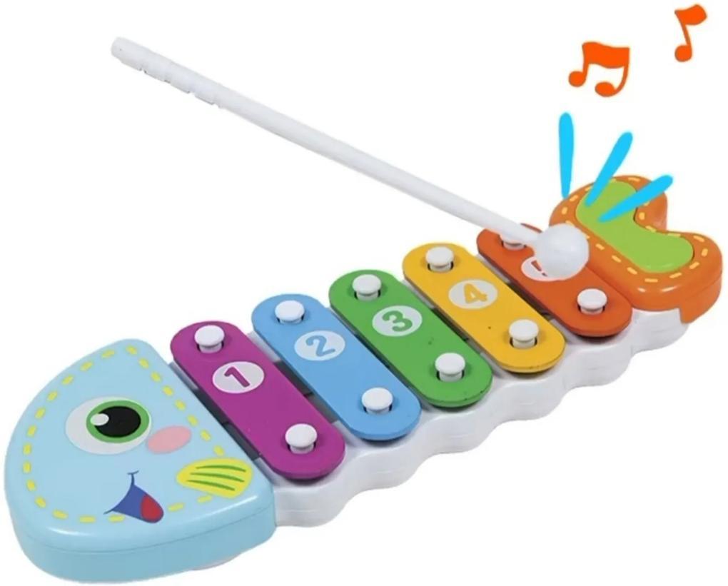 Brinquedo Musical Xilofone Peixinho Educativo Bebê Buba