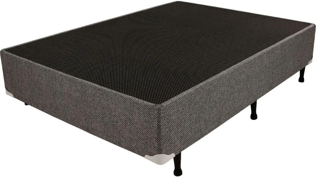 Box Chenile Cinza 138x188x24 Luckspuma