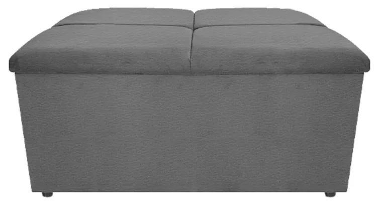 Calçadeira Munique 100 cm Solteiro Corano Cinza - ADJ Decor