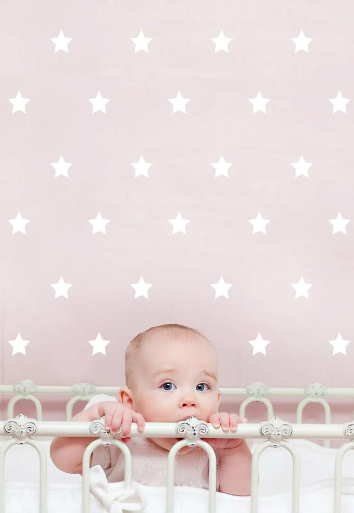Adesivo Decorativo Stixx Estrelas Poá Branco