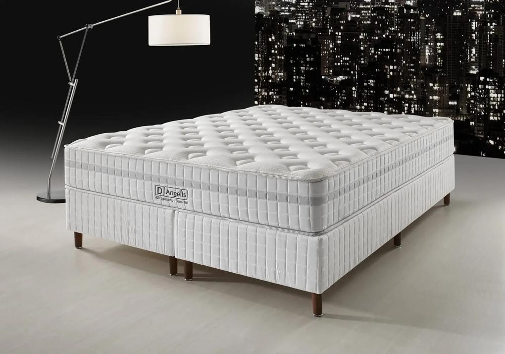 Conjunto Cama Box - DG-430 Visco Gel - Pillow Flat - D Angelis