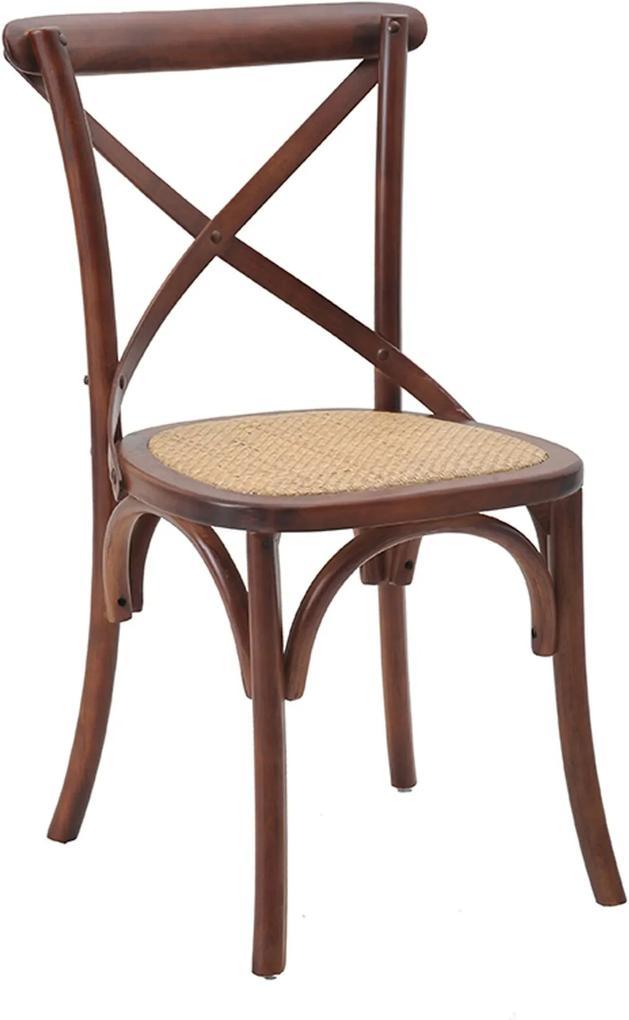 Cadeira Katrina Madeira Escura Marrom Rivatti