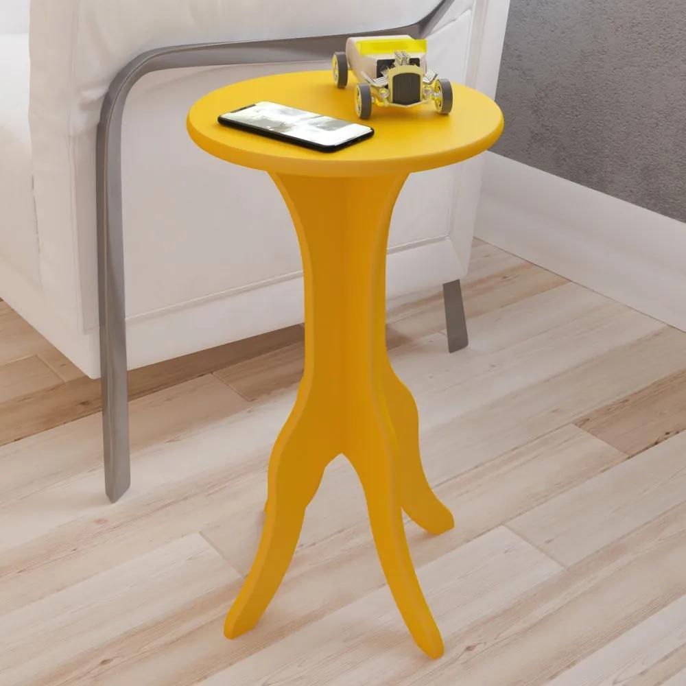 Mesa de Canto Kin Amarelo - Artely