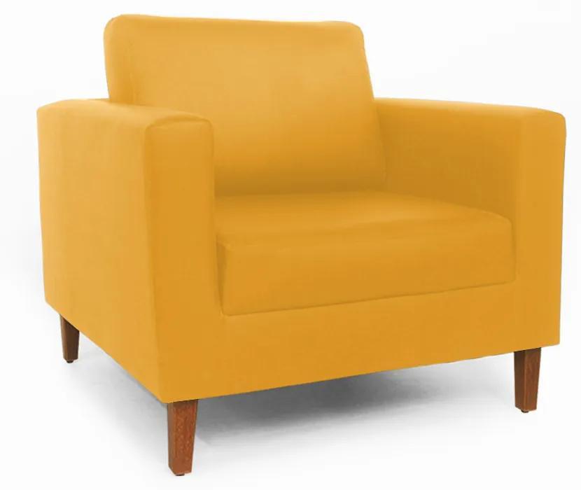 Poltrona Decorativa Gabriela Courino Amarelo