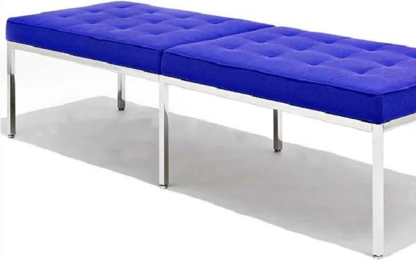 Banco Recamier FK Estrutura em Aço Inox Cremon Design by Florence Knoll